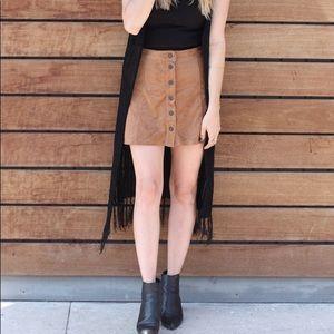 Brown Suede American Eagle Skirt